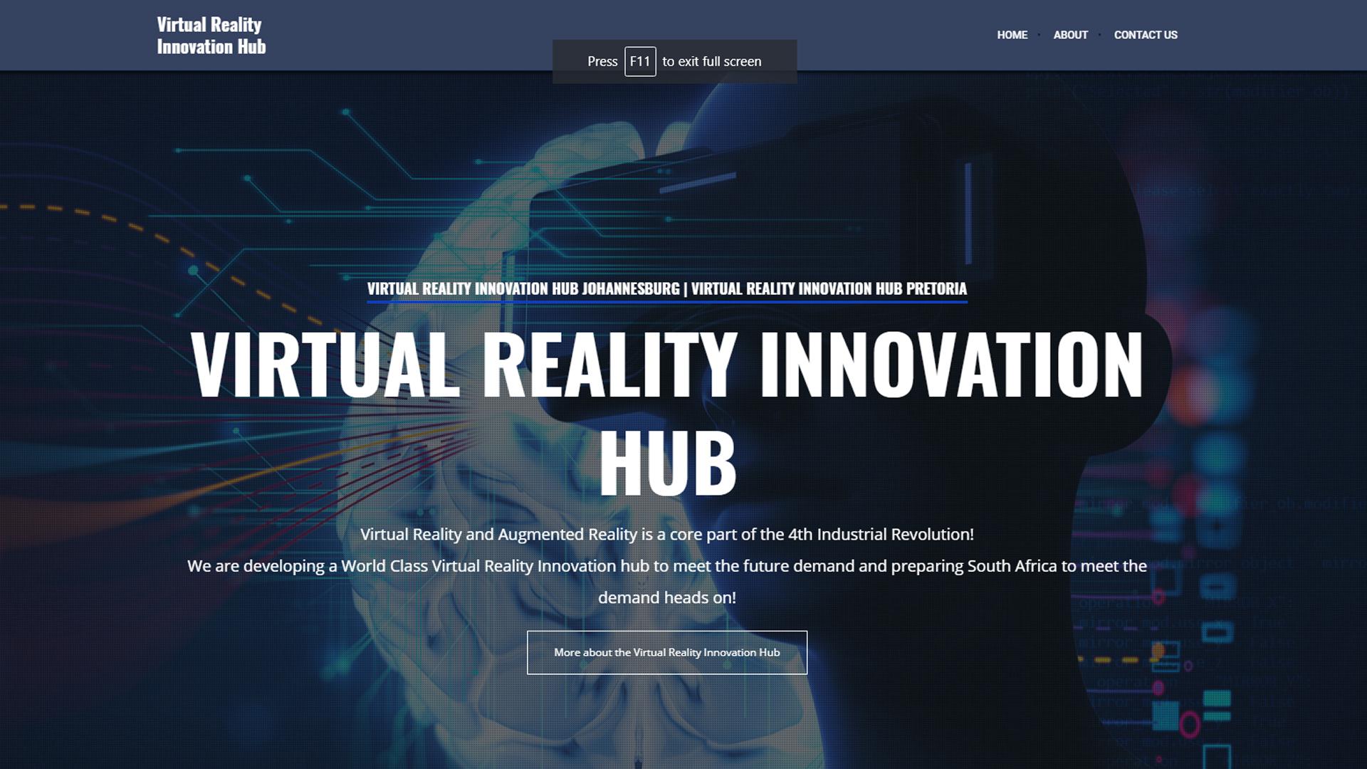 virtual reality innovation hub