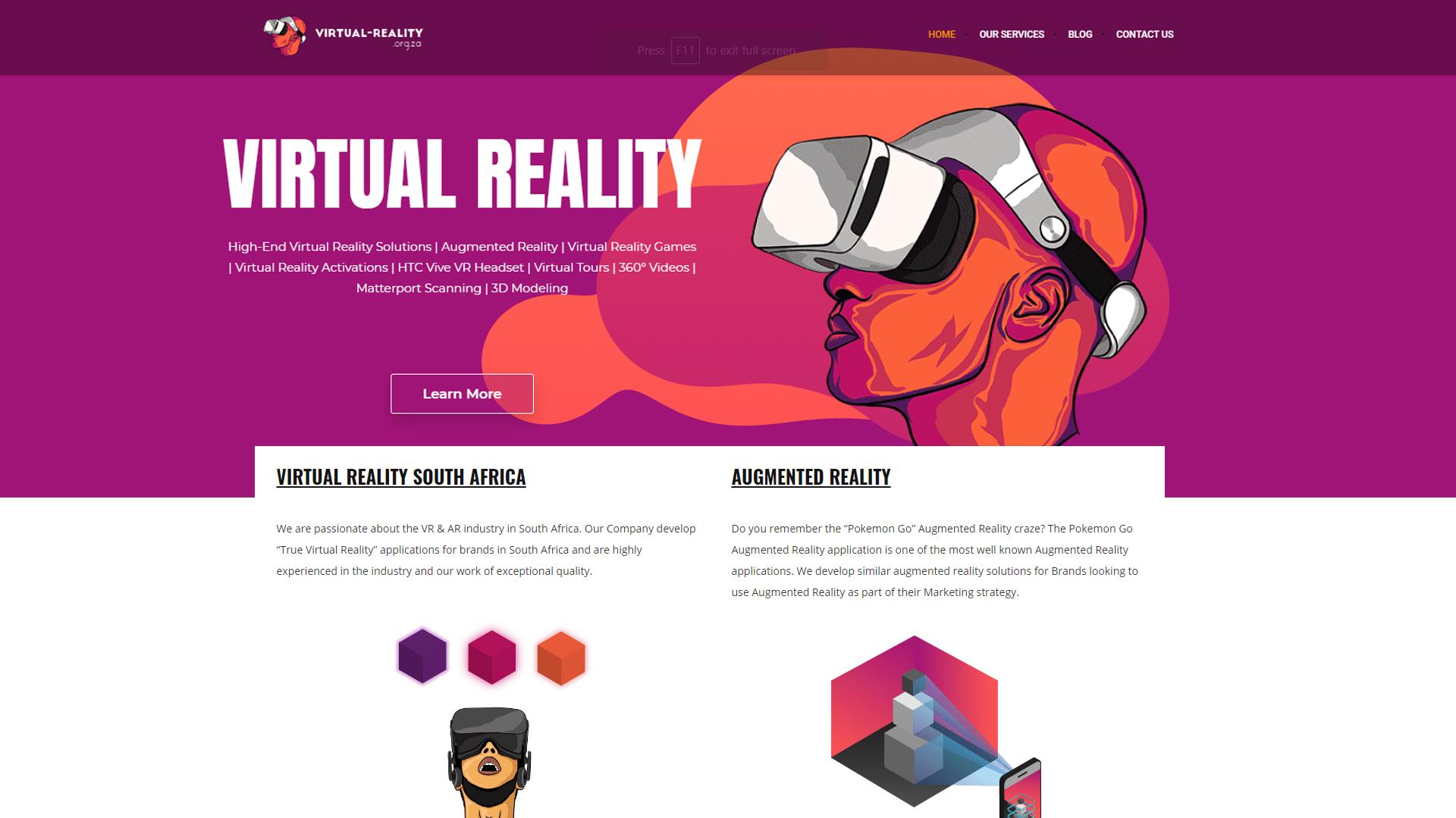 virtual reality organization South Africa