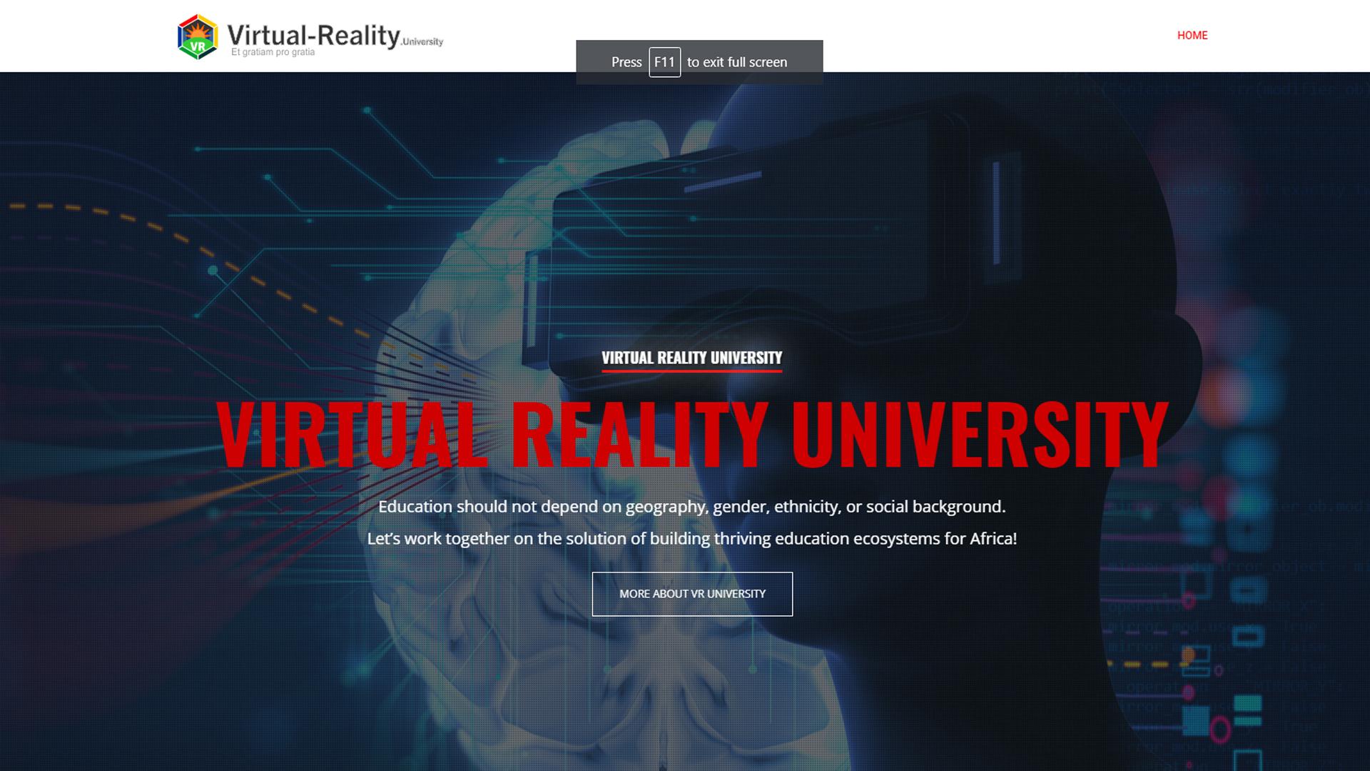 virtual reality university